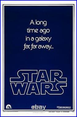 STAR WARS 1977 Advance Teaser Version B 27x41 US Movie Poster Bootleg Poster