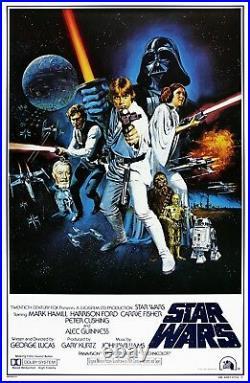 STAR WARS 1977 International Version C 27x41 US Movie Poster Bootleg Poster