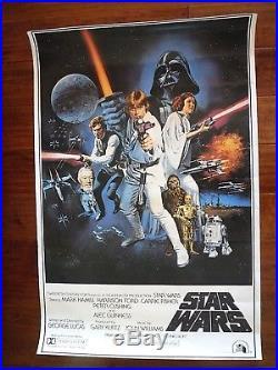 STAR WARS 1977 ORIGINAL MOVIE POSTER-PTW-531 VINTAGE RARE 20th CENTURY FOX