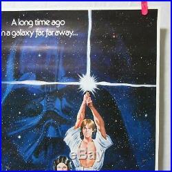 STAR WARS 1977' Original Movie Poster SEITO Art Japanese B2