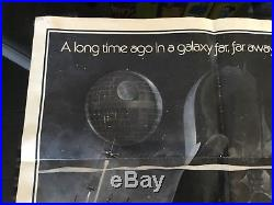 STAR WARS 1977 Original One Sheet Movie Poster 27X41 Style A 77/21-0