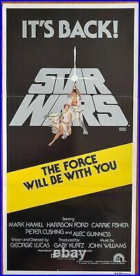 STAR WARS (1977) R1981 Original Australian Daybill Movie Poster