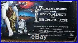 STAR WARS 1977 RARE ROLLED ORIGINAL MOVIE POSTER UK BRITISH QUAD NM 30x 40