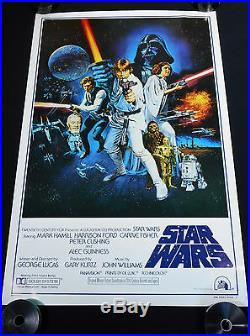 STAR WARS 1977 STYLE-C 27x41 BOOTLEG ONE SHEET MOVIE POSTER C10 MINT ROLLED