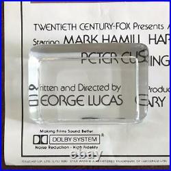 STAR WARS 1977 Sci Fi Action Cult Luke Skywalker ORIGINAL VIDEO POSTER Rolled