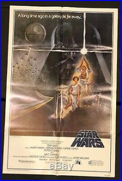 STAR WARS 1977 Style A Original One Sheet (27 X 41) SS/Folded Movie Poster