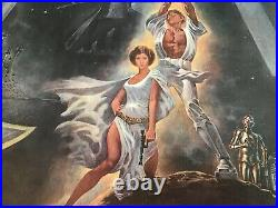 STAR WARS 1977 Style A Original US Movie Poster One Sheet 27x41 Linen Backed