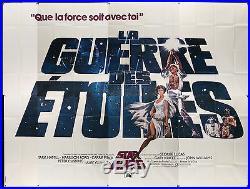 STAR WARS 1977 huge 118x157 French billboard poster George Lucas Filmartgallery