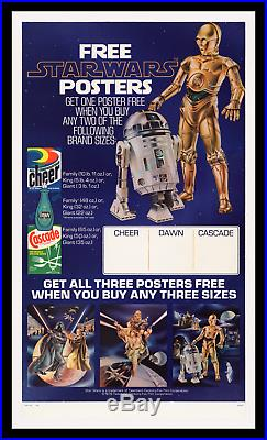 STAR WARS 1978 Proctor & Gamble STORE DISPLAY MOVIE POSTER PROOF PAPER ONLY