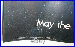 STAR WARS 1979 ORIGINAL BRITISH QUAD MOVIE POSTER 30x40 ACADEMY AWARD EXC COND