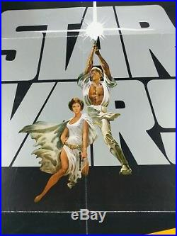STAR WARS 1981 Re-release Two Weeks Authentic One Sheet Movie Poster NSS Style
