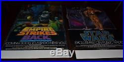 STAR WARS 1981 THE EMPIRE STRIKES BACK 1982 NPR RADIO MOVIE POSTER 2 posters
