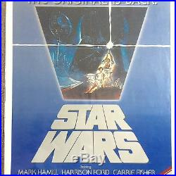 STAR WARS 1982 US 1 SHEET RE-RELEASE MOVIE POSTER FOLDED 27X41 Art by Tom Jung