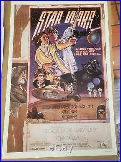 STAR WARS 1987 RePrinted Movie Poster Circus Style D Drew Struzan Art 41 x 27