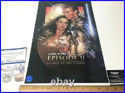 STAR WARS 5 CAST SIGNED MOVIE POSTER EPISODE 2 11x17 WITH COA