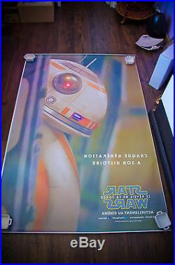 STAR WARS 7 FORCE AWAKENS A RARE 4x6 ft Bus Shelter Original Movie Poster 2015