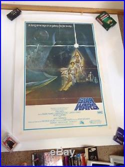 STAR WARS Australian 1st First Original One Sheet 1sh Movie Poster LINEN 1977