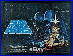 STAR WARS BRITISH QUAD CineMasterpieces ORIGINAL MOVIE POSTER 1977 HILDEBRANDT