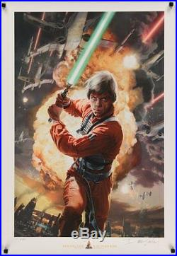STAR WARS CELEBRATION 4 ROGUE LEADER limited edition print AP #250 DAVE SEELY