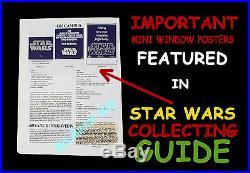 STAR WARS CORPORATION + 20th CENTURY-FOX Pre-Release MINI WINDOW MOVIE POSTER