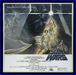 STAR WARS CineMasterpieces 1977 HUGE RARE 6 SHEET ORIGINAL MOVIE POSTER