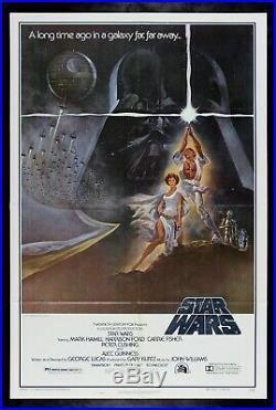 STAR WARS CineMasterpieces 1977 ORIGINAL 77/21 VINTAGE UNUSED MOVIE POSTER