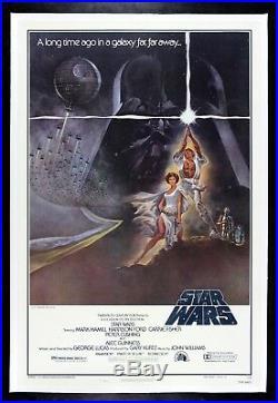 STAR WARS CineMasterpieces 1977 ORIGINAL VINTAGE MOVIE POSTER EX-NM LINEN