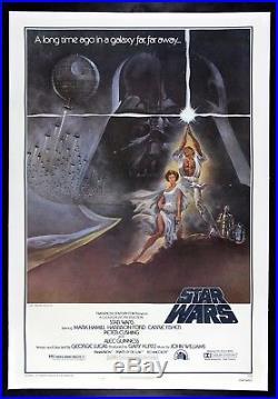 STAR WARS CineMasterpieces 1977 ORIGINAL VINTAGE MOVIE POSTER TRI FOLD LINEN
