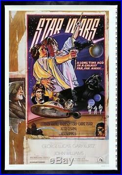 STAR WARS CineMasterpieces 1992 FAN CLUB PRINTER'S PROOF MOVIE POSTER