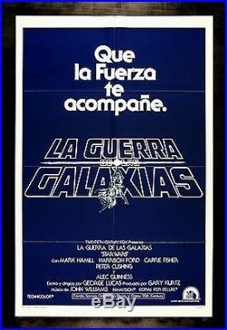 STAR WARS CineMasterpieces 1SH NM-M ADVANCE SPANISH ORIGINAL MOVIE POSTER 1977