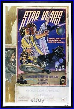 STAR WARS CineMasterpieces 1SH STYLE D ORIGINAL MOVIE POSTER 1977 UNUSED NM-M