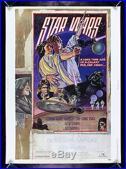 STAR WARS CineMasterpieces 30X40 STYLE D 1SH RARE ORIGINAL MOVIE POSTER 1977