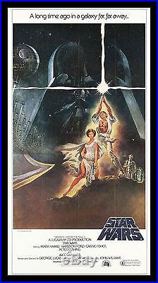 STAR WARS CineMasterpieces 3SH ORIGINAL MOVIE POSTER C9-C10 NM-MINT 1977