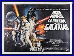 STAR WARS CineMasterpieces ARGENTINA 2SH RARE ORIGINAL MOVIE POSTER 1977