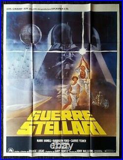 STAR WARS CineMasterpieces HUGE ITALY ITALIAN ORIGINAL MOVIE POSTER 1977