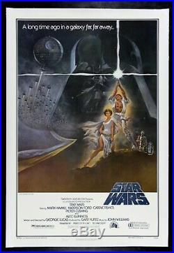 STAR WARS CineMasterpieces NSS 77/21-0 1ST PRINTING ORIGINAL MOVIE POSTER 1977