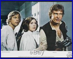 STAR WARS CineMasterpieces ORIGINAL LOBBY CARD SET ORIGINAL MOVIE POSTERS