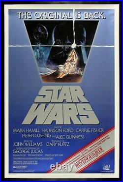STAR WARS CineMasterpieces ORIGINAL MOVIE POSTER REVENGE OF THE JEDI 1982R