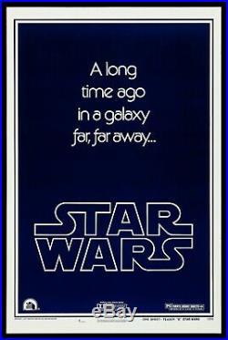 STAR WARS CineMasterpieces ORIGINAL STYLE B TEASER MOVIE POSTER 1977 WITH GAU