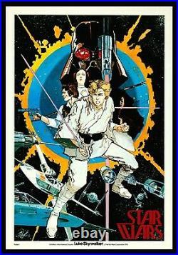 STAR WARS CineMasterpieces POSTER #1 THE CHAYKIN ORIGINAL MOVIE POSTER 1977