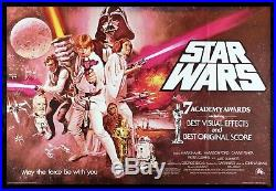 STAR WARS CineMasterpieces RARE RED UK BRITISH QUAD ORIGINAL MOVIE POSTER 1977