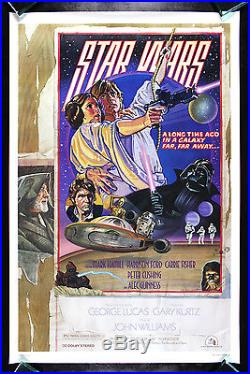 STAR WARS CineMasterpieces RARE ROLLED STUDIO ISSUE STYLE D MOVIE POSTER 1977