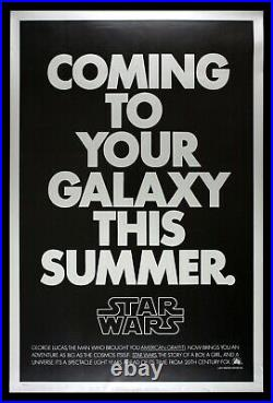 STAR WARS CineMasterpieces RARE SECOND 2ND ADVANCE VINTAGE MOVIE POSTER 1976