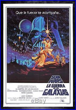 STAR WARS CineMasterpieces SPANISH HILDEBRANDT MOVIE POSTER NM UNUSED 1977