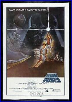 STAR WARS CineMasterpieces STYLE A VINTAGE ORIGINAL MOVIE POSTER LINEN 1977