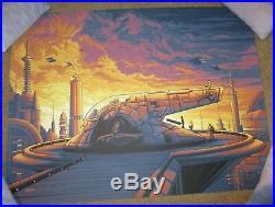 STAR WARS Cloud City boba fett empire movie poster art print Dan Mumford