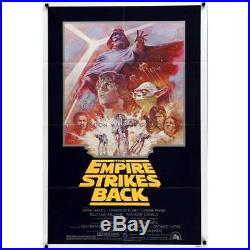 STAR WARS EMPIRE STRIKES BACK Original Movie Poster 27x41 in. R1981 Geo