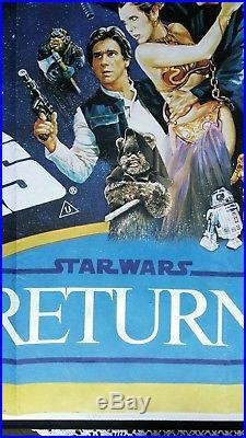 STAR WARS / EMPIRE STRIKES BACK/RETURN OF THE JEDI original UK quad movie poster