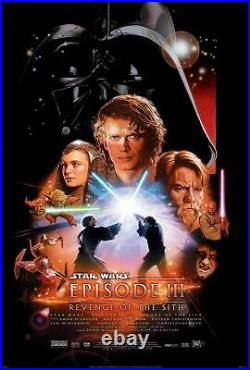 STAR WARS EPISODE 3 REVENGE OF THE SITH DS 27x40 ORIGINAL MOVIE POSTER