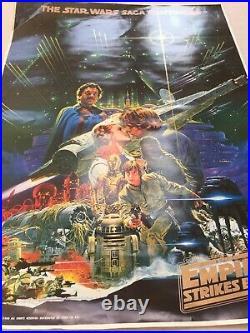 STAR WARS Empire Strikes Back B2 Original Movie Poster Genuine